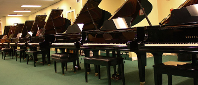 Our piano showroom