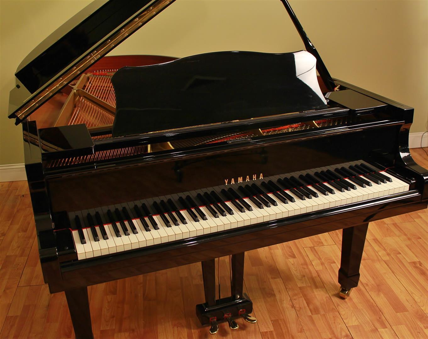 Yamaha c3 6 39 1 grand piano ebony polish beautiful ebay for Yamaha c3 piano