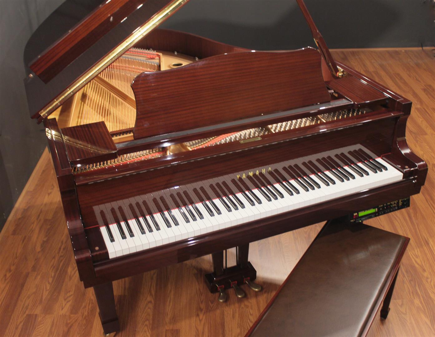 Yamaha disklavier dc2 5 39 8 39 39 player grand piano polished for Yamaha pianos dc