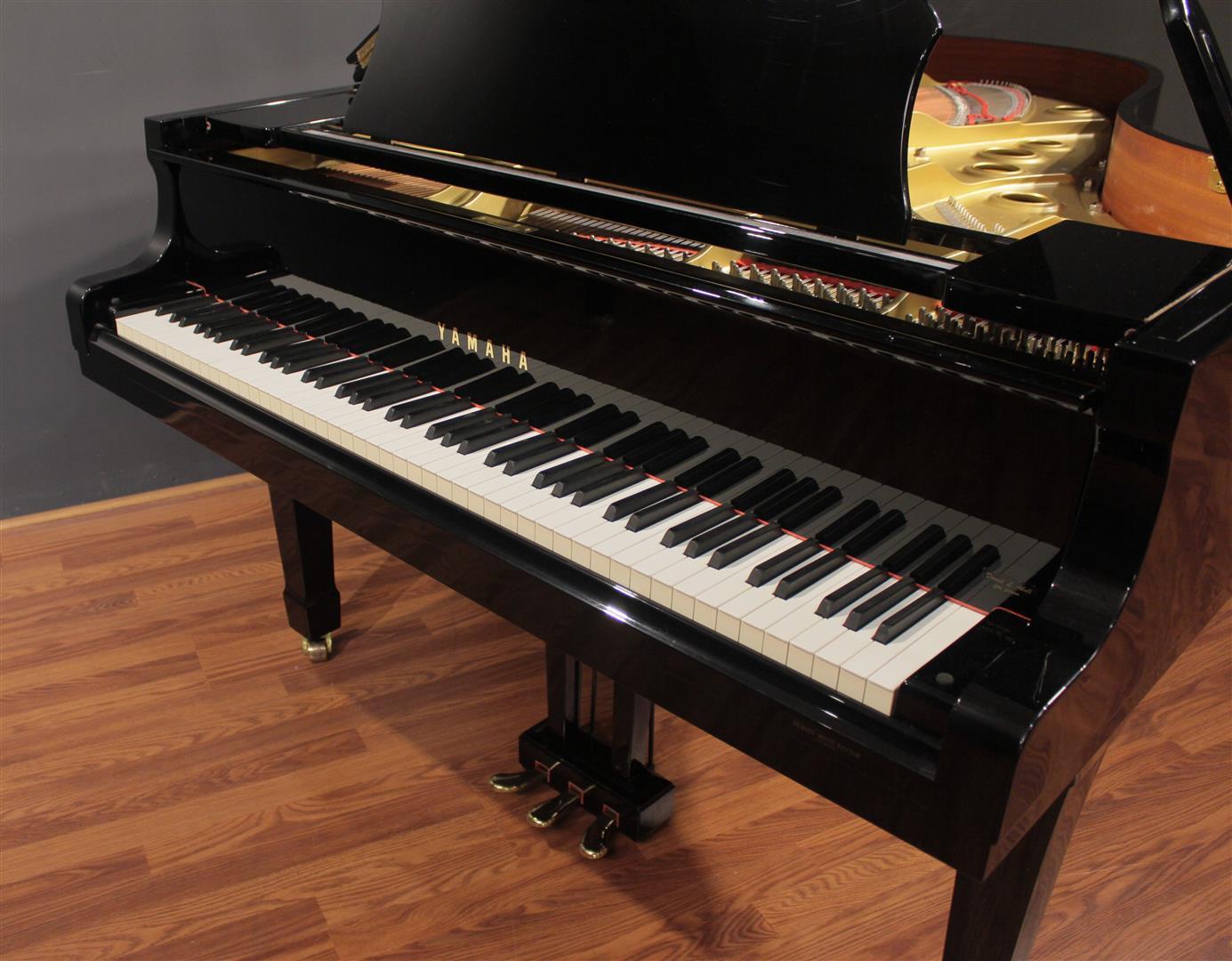 Yamaha disklavier dc5 6 39 7 39 39 grand piano polished ebony ebay for Yamaha disklavier grand piano