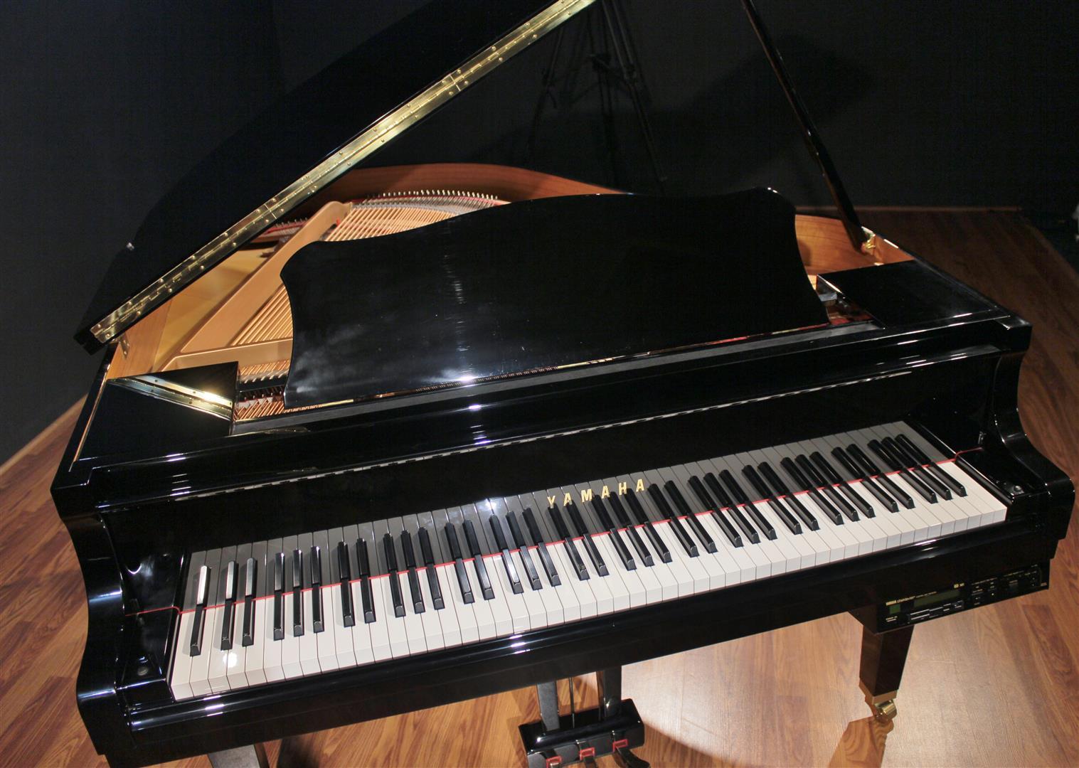 Yamaha disklavier 5 39 3 39 39 baby grand piano dgp1xg 1999 ebay for Yamaha disklavier grand piano