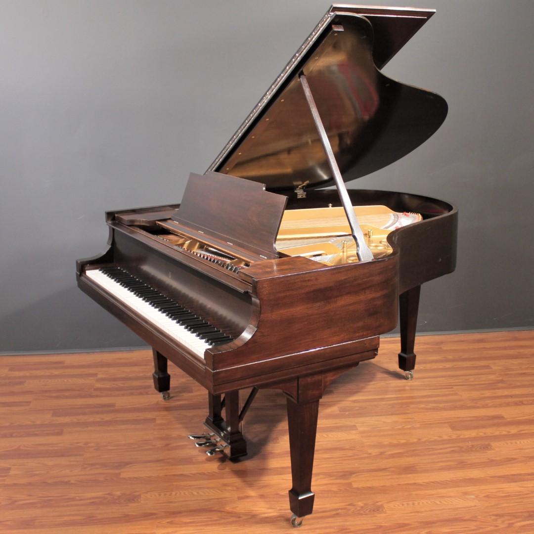 Steinway Model M 5'7'' Player Grand Piano Restored Dark Mahogany  PianoDisc/QRS