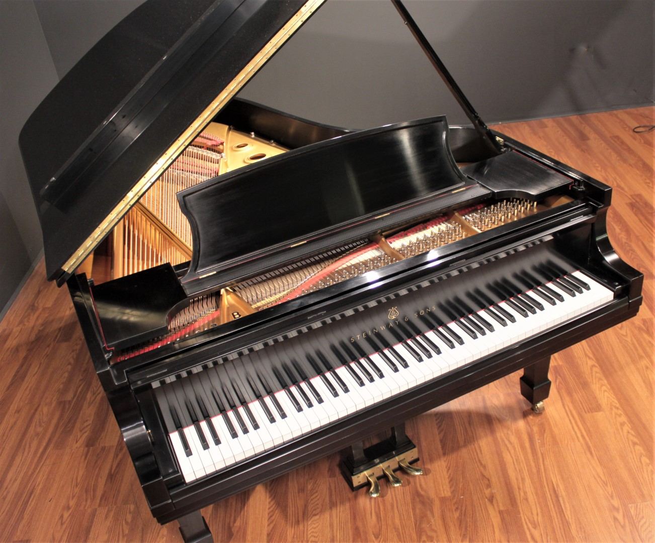 Steinway model b 7 39 semi concert grand piano 1991 grand for Yamaha c2 piano for sale
