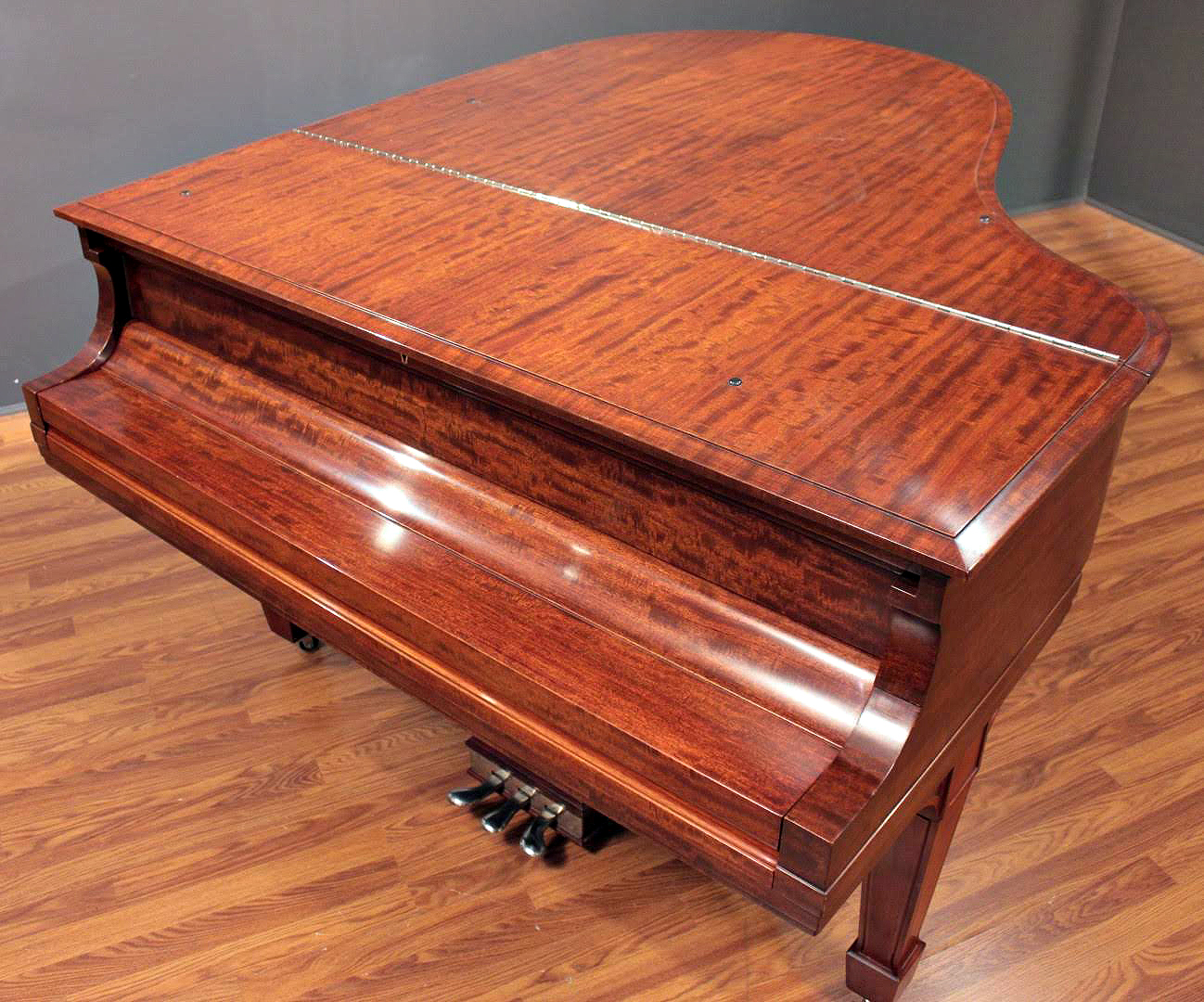 Steinway Model O 5 10 Grand Piano Figured Mahogany Red