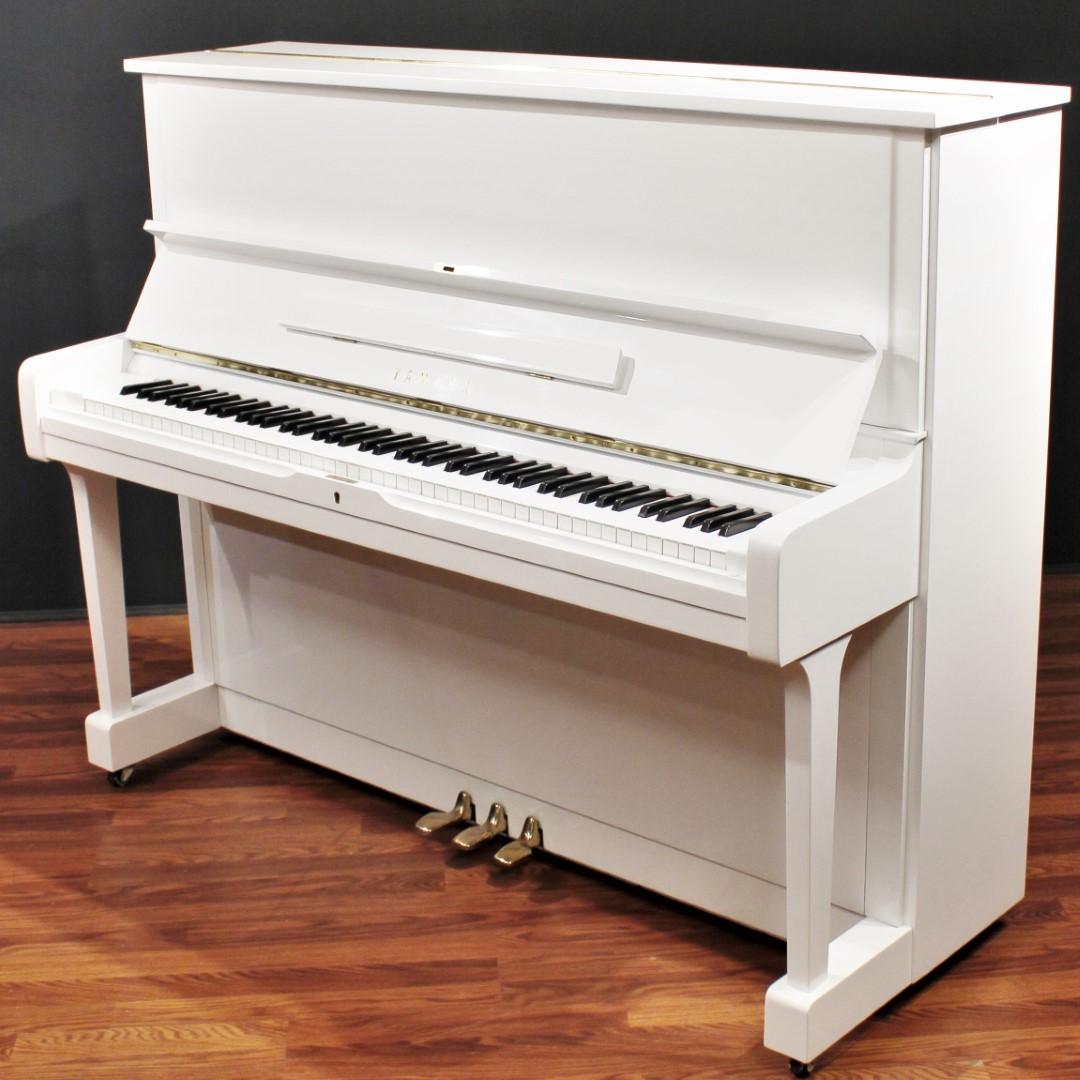 Yamaha U1 48'' Studio Upright Piano Polished White | eBay