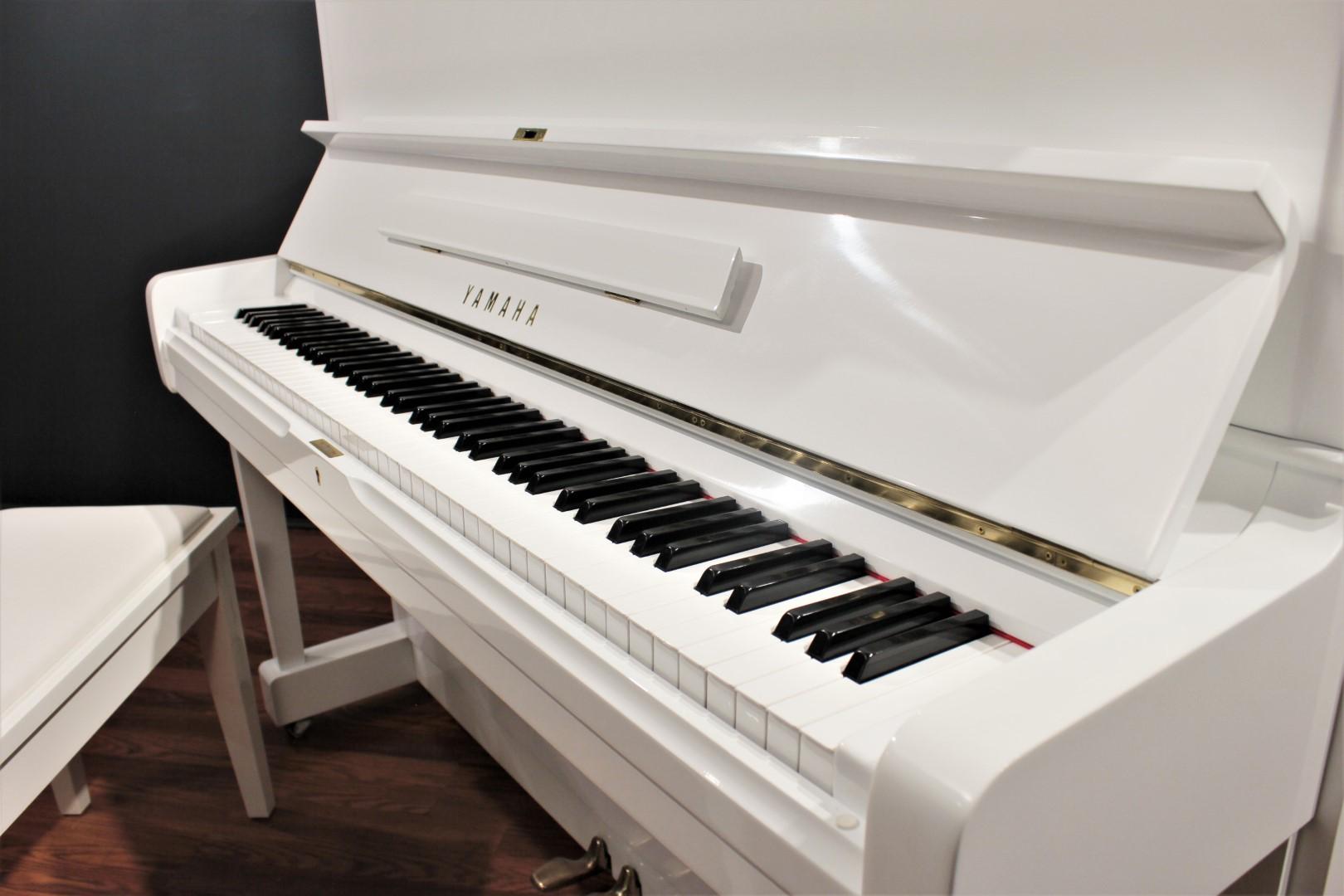 Yamaha U1 48'' Studio Upright Piano Polished White | Four ...