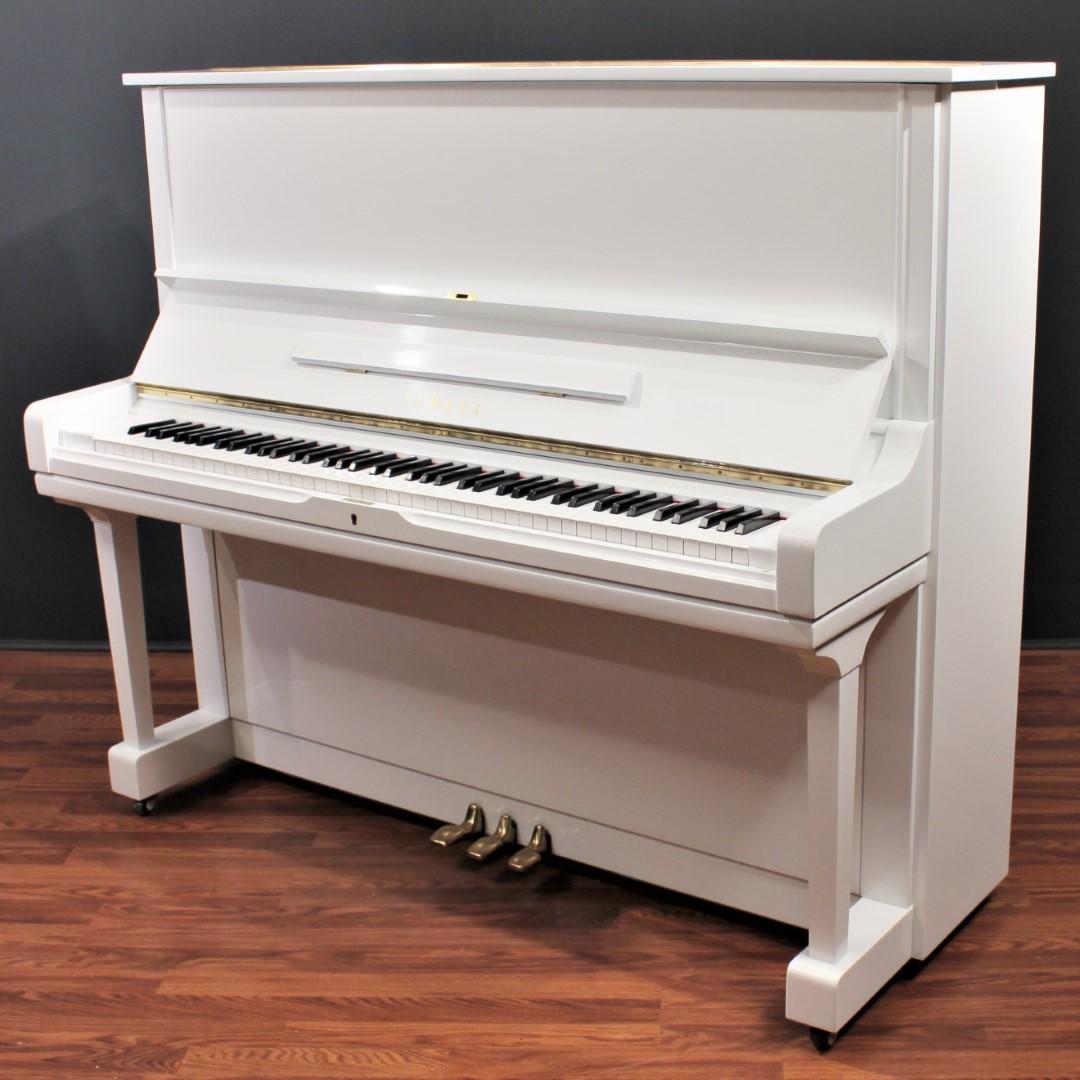 Yamaha U3 52'' Player Upright Piano Polished White ...